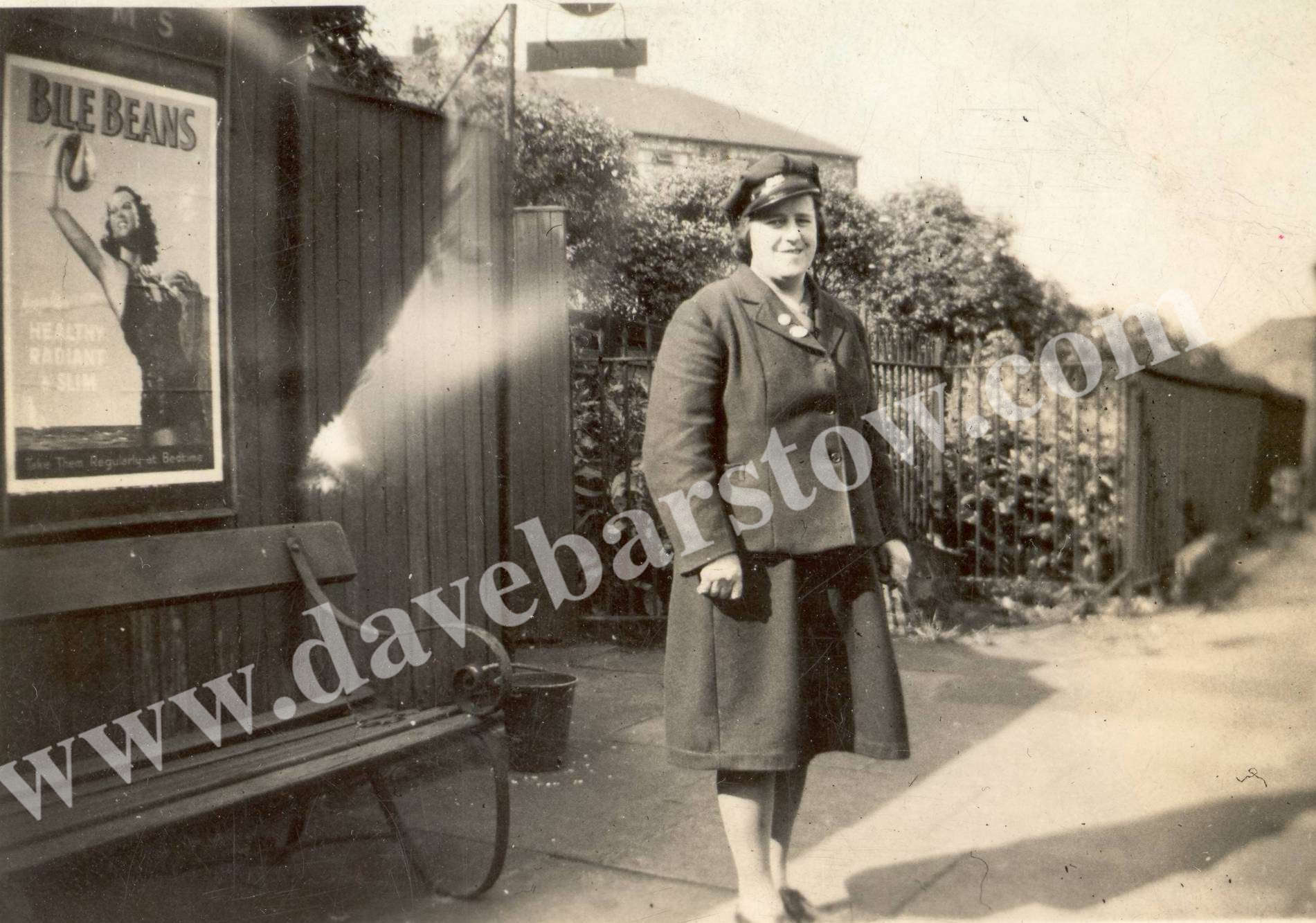 Nellie Cheetham at Hooley hill station